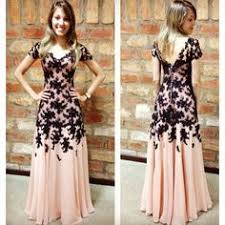 pink v neck zip up long a line tull long prom dresses pink prom