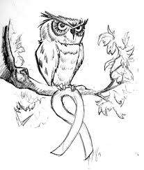 friend of mine wanted an owl holding a ribbon for a tattoo