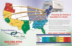 Fl East Coast Map Vision Express Wrag Time Ltl Freight Carrier U003e For A Pickup