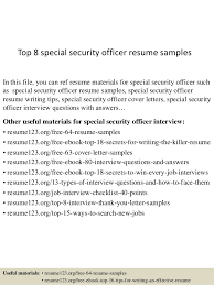 security officer resume top 8 special security officer resume sles 1 638 jpg cb 1434438899