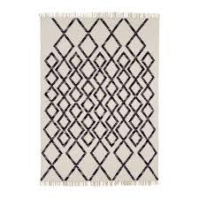 Cotton Wool Rugs Black Cotton Wool Blend Hand Woven Hackney Rug Modern Rugs