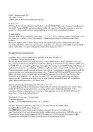 Best Resume For Network Engineer by John Westmorelands Resume