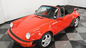 orange porsche 911 convertible 1988 porsche 911 turbo cabriolet for sale near fort worth texas