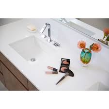 Undercounter Bathroom Sink Faucet Com K 2882 0 In White By Kohler