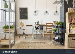 dining room area dining table chairs stock photo 573398149 dining room area with dining table and chairs