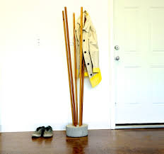 ana white modern concrete and broomstick coat tree diy projects