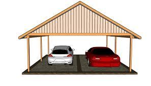 how to build a 2 car garage double carport plans to build pinterest double carport