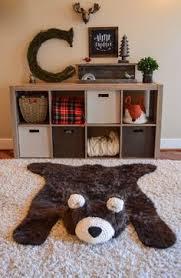 woodland nursery decor baby bear rug by claraloo for the