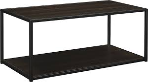 amazon com altra canton coffee table with metal frame espresso