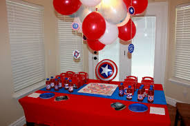 Candy Themed Party Decorations Captain America Birthday Party Supplies Decorating Of Party