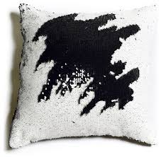 Mermaid Pillow Co Black and White Sequin Mermaid Pillow View