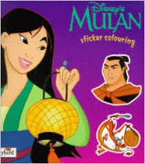 buy mulan sticker colouring book disney classic films book