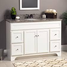 White Vanity Bathroom Contemporary 48 Inch Single Bathroom Vanity Gray Finish No Top