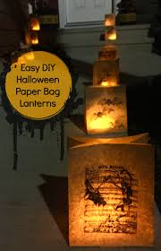 easy diy halloween paper bag lanterns and then homeand then home