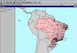 south america dot map maps south america