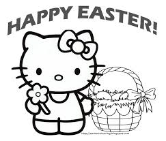 hello kitty happy easter coloring pages getcoloringpages com