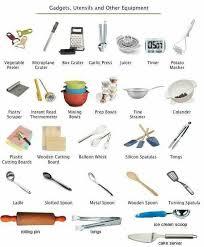 vocabulaire des ustensiles de cuisine épinglé par sur pictionary apprendre