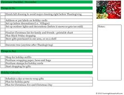 thanksgiving check list household checklist for november running a household
