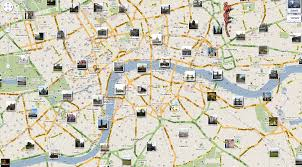 London Bus Map Download London Sights Map Major Tourist Attractions Maps