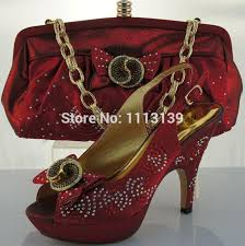 wedding shoes and bags atractive wine wedding shoes and matching bag set thin high heels