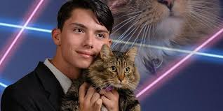 cat high yearbook high school student nails it with this epic cat and laser yearbook