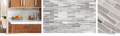 backsplash tiles kitchen modern white gray subway marble backsplash tile