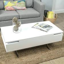 white end table with storage white coffee table with drawers iblog4 me