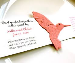 seed paper favors 100 seed paper hummingbird wedding favors plantable paper