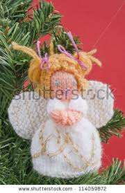 angel decorations for home christmas angel decoration knitted home made stock photo royalty