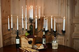 amazon com old river road wine bottle candelabra holds four