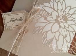 wedding invitations durban lasercut peony wedding invitation rustic invite in kraft