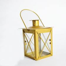 4 5 gold square hurricane candle lantern tea light holder square