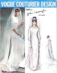 vintage wedding dress patterns 1960s wedding dress bridal gown pattern vogue couturier design