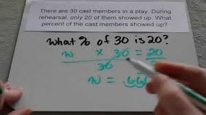 Basic Math Word Problems Worksheets Finding Percent In Word Problems 6th Grade And Up Youtube