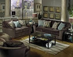 Chocolate Living Room Set Sofa In Chocolate Fabric By Jackson 4397 03