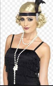 how to make a 1920s hairpiece blonde head band finger waves 1920s style black flapper girl