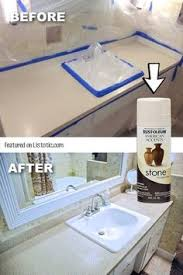 cheap bathroom countertop ideas painted my countertops with rustoleum countertop coating applied