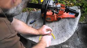 chainsaw fuel tank vent line repair hack youtube