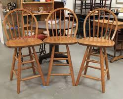 found in ithaca vintage oak swivel bar stools sold