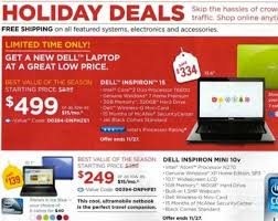 best dell laptop black friday deals black friday 2009 dell ad gear live