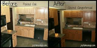 kitchen cabinet transformations rust oleum cabinet transformations pickled oak to gingerbread