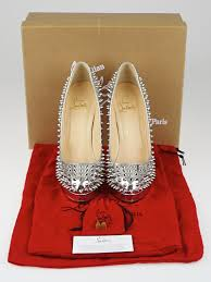 christian louboutin silver patent leather altipump 160 spike pumps