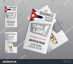 summer cocktail party flyer invitation template stock vector