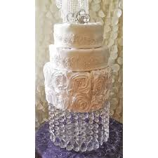 wedding cake stand with crystals chandelier acrylic beads cupcake