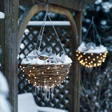 christmas hanging baskets with lights outdoor christmas lights christmas time outdoor christmas and lights
