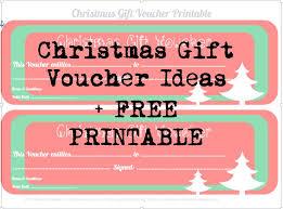 printable christmas gift vouchers free printable christmas gift vouchers free printables and