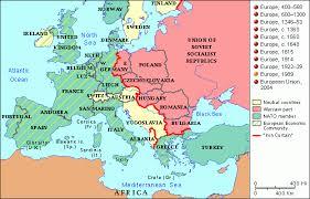 atlas map of europe grolier atlas