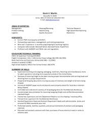 Resume Qualifications Example by Logistics Resume Example Trailer Mechanic Resume