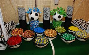 soccer candy buffet setting the mood