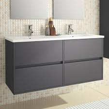 double sink wall hung vanity unit eco line noja 1200 wall mounted 4 drawer double vanity unit dual